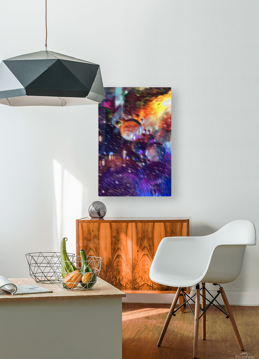 Color Flow F  HD Metal print with Floating Frame on Back