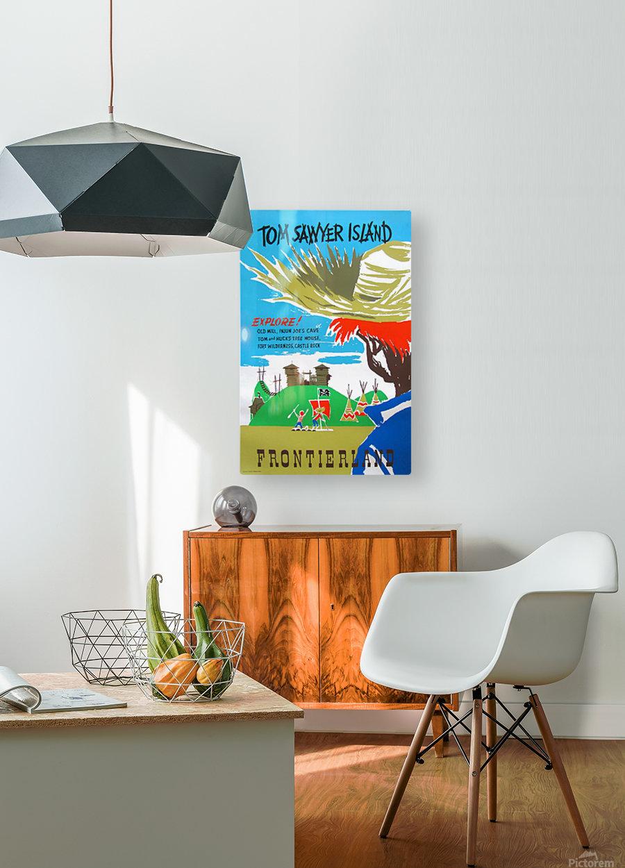 Tom Sawyer Island Poster  HD Metal print with Floating Frame on Back