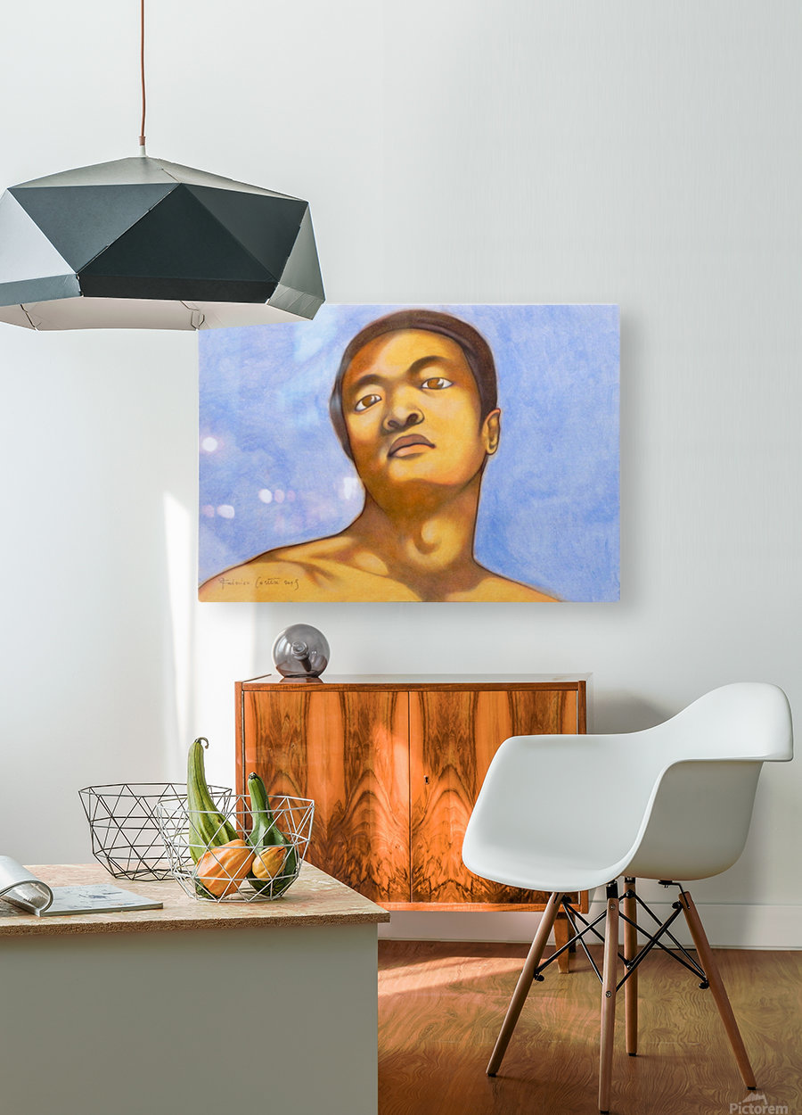 xin in michelangelo mood  HD Metal print with Floating Frame on Back