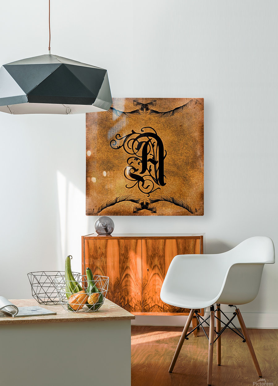 Beautiful Monogram Letter A  HD Metal print with Floating Frame on Back