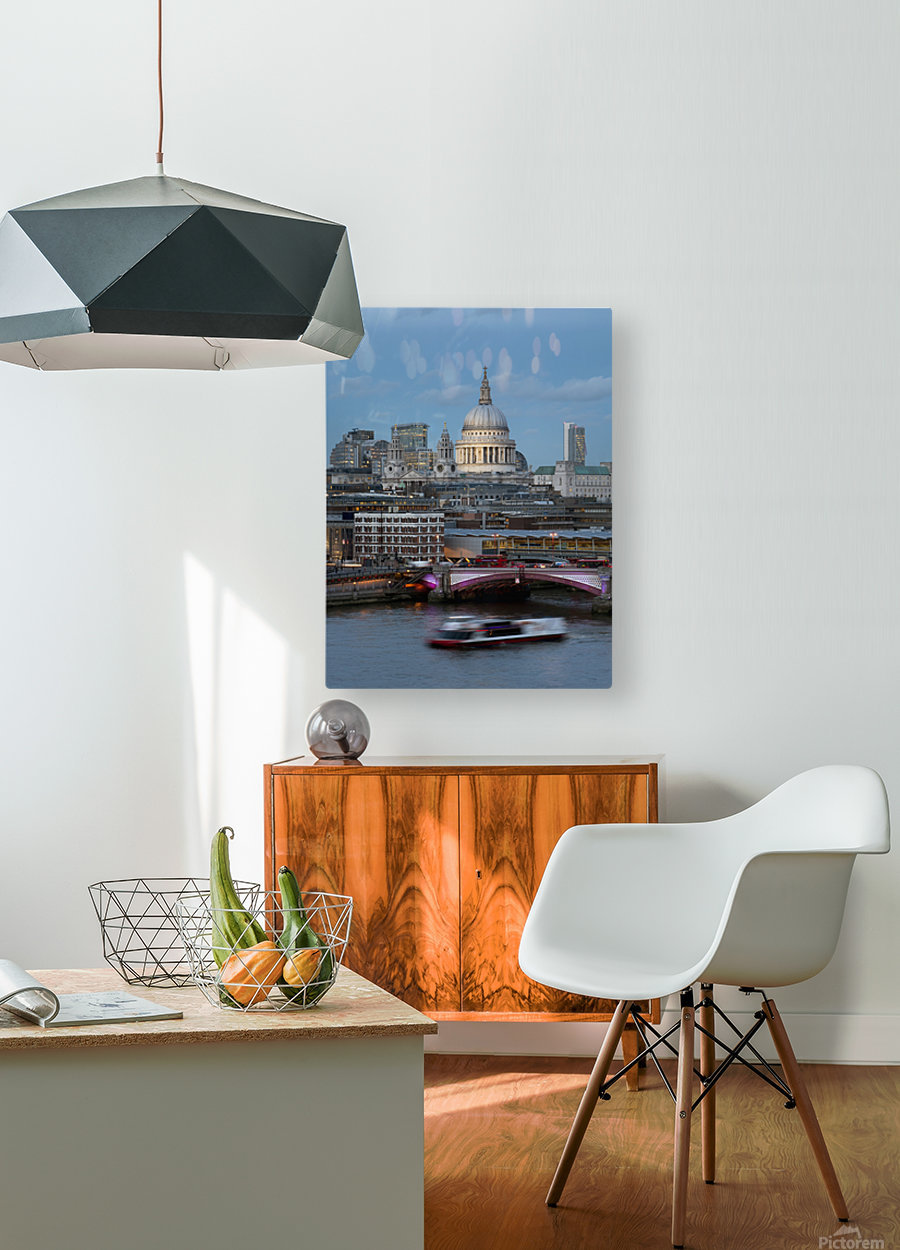St. Paul's Cathedral and Blackfriars; London, England  HD Metal print with Floating Frame on Back