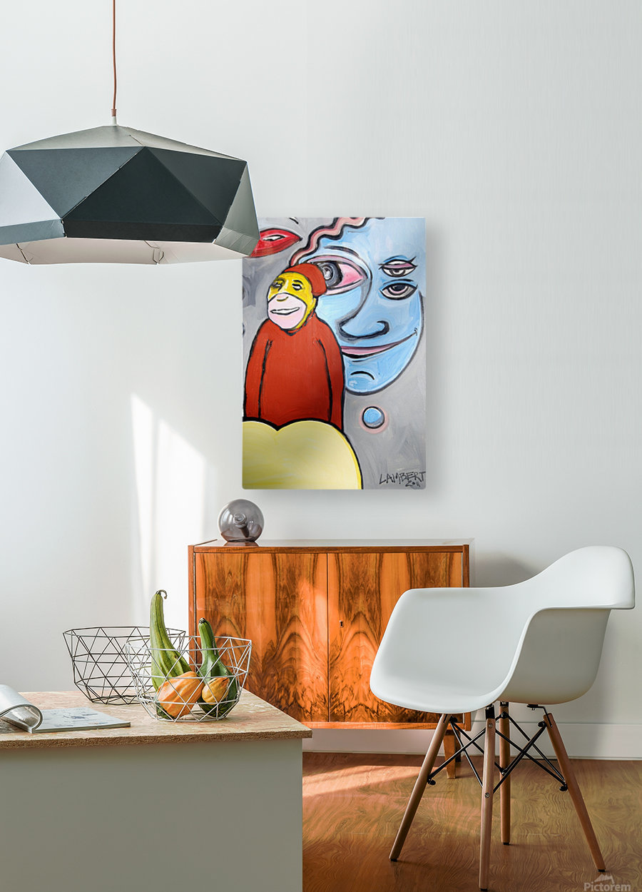 The Doge  HD Metal print with Floating Frame on Back