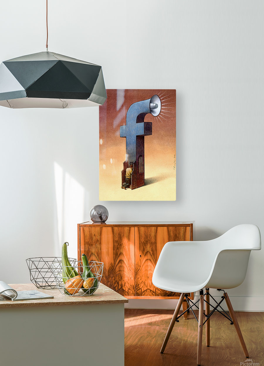 Confessional  HD Metal print with Floating Frame on Back