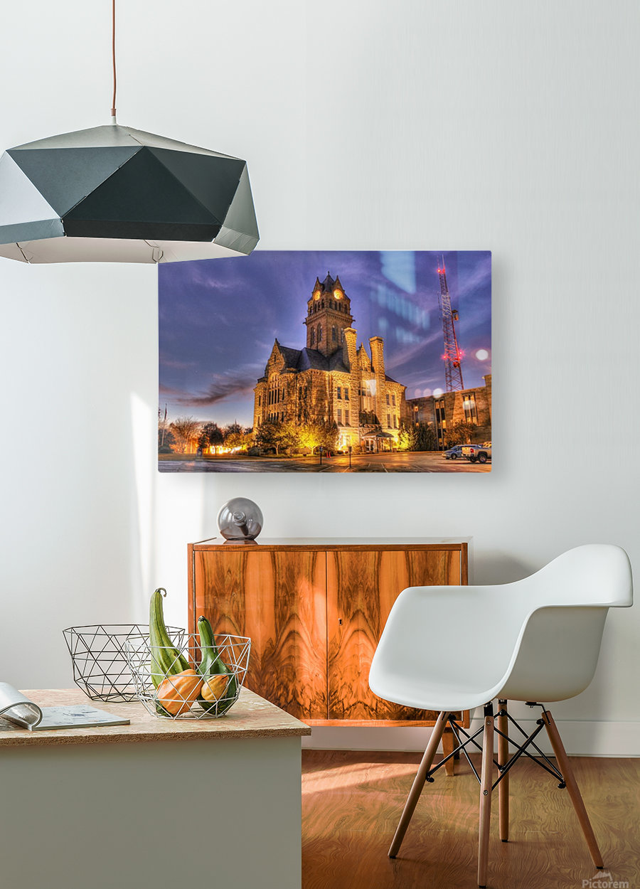 Twilight Courthouse  HD Metal print with Floating Frame on Back