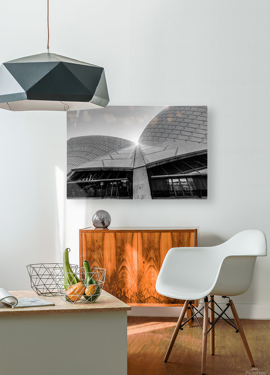 Curves at the Opera House  HD Metal print with Floating Frame on Back