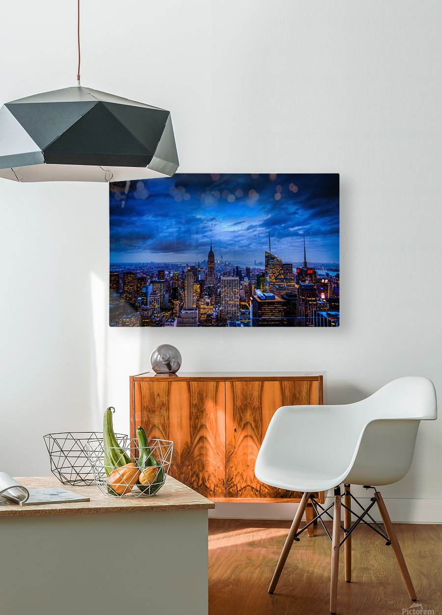 Empire State of Mind  HD Metal print with Floating Frame on Back