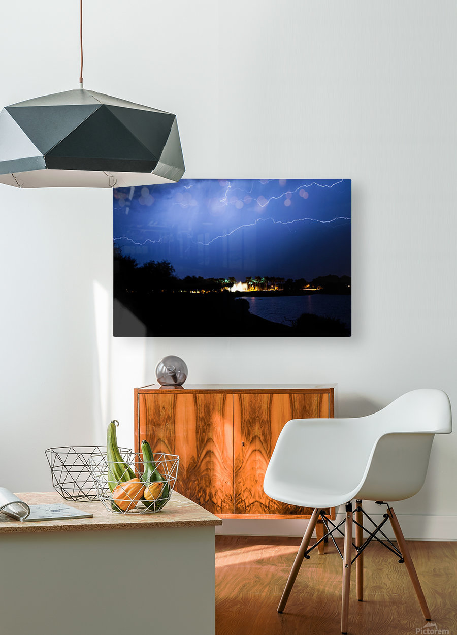 Chasing light  HD Metal print with Floating Frame on Back