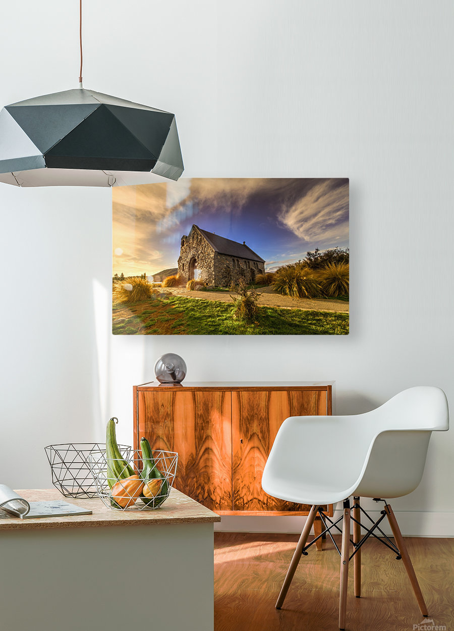 Highlights of Shepherd  HD Metal print with Floating Frame on Back