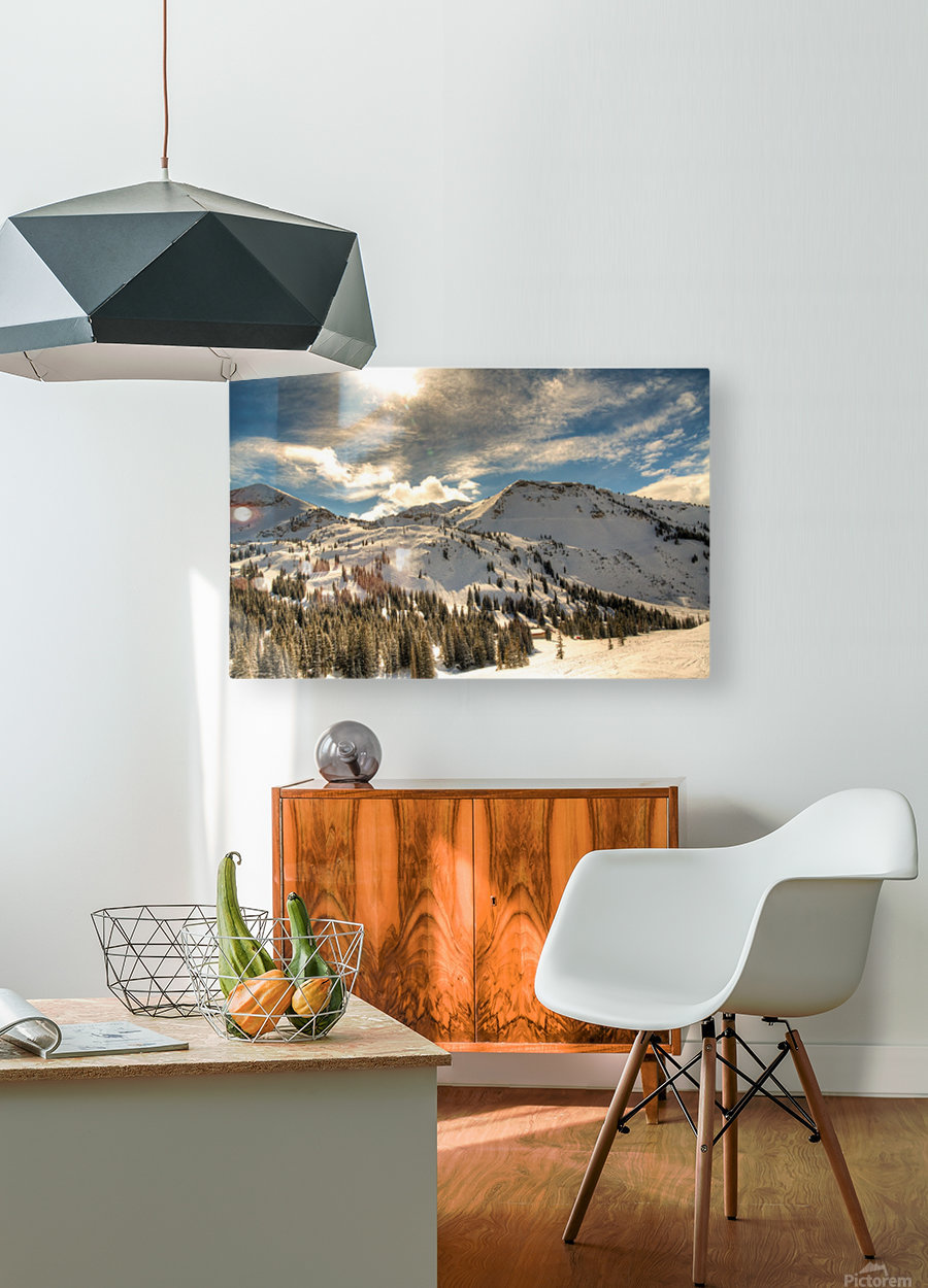 Glowing Alta  HD Metal print with Floating Frame on Back