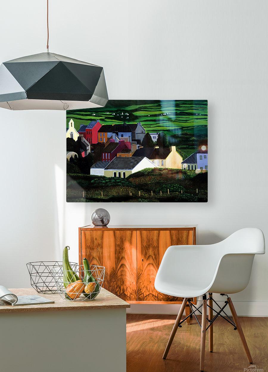 IRELAND VILLAGE  HD Metal print with Floating Frame on Back