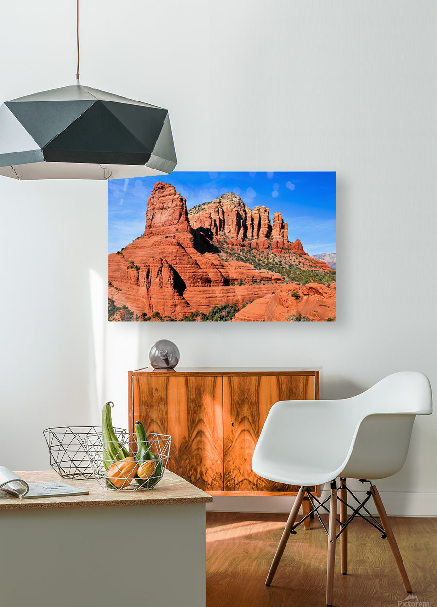 Bell Rock Sedona  HD Metal print with Floating Frame on Back