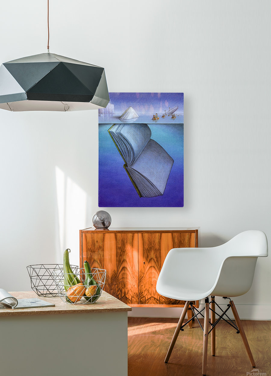iceberg  HD Metal print with Floating Frame on Back