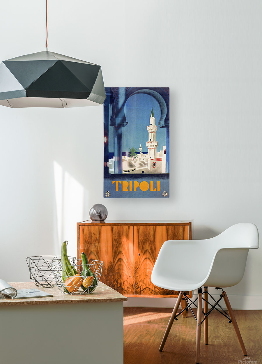 Tripoli travel poster  HD Metal print with Floating Frame on Back