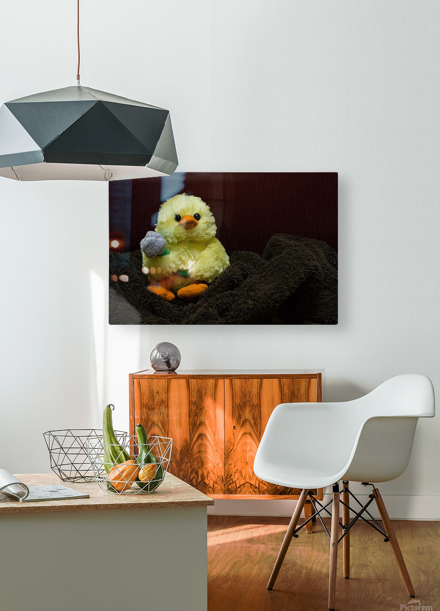 Tweety  HD Metal print with Floating Frame on Back