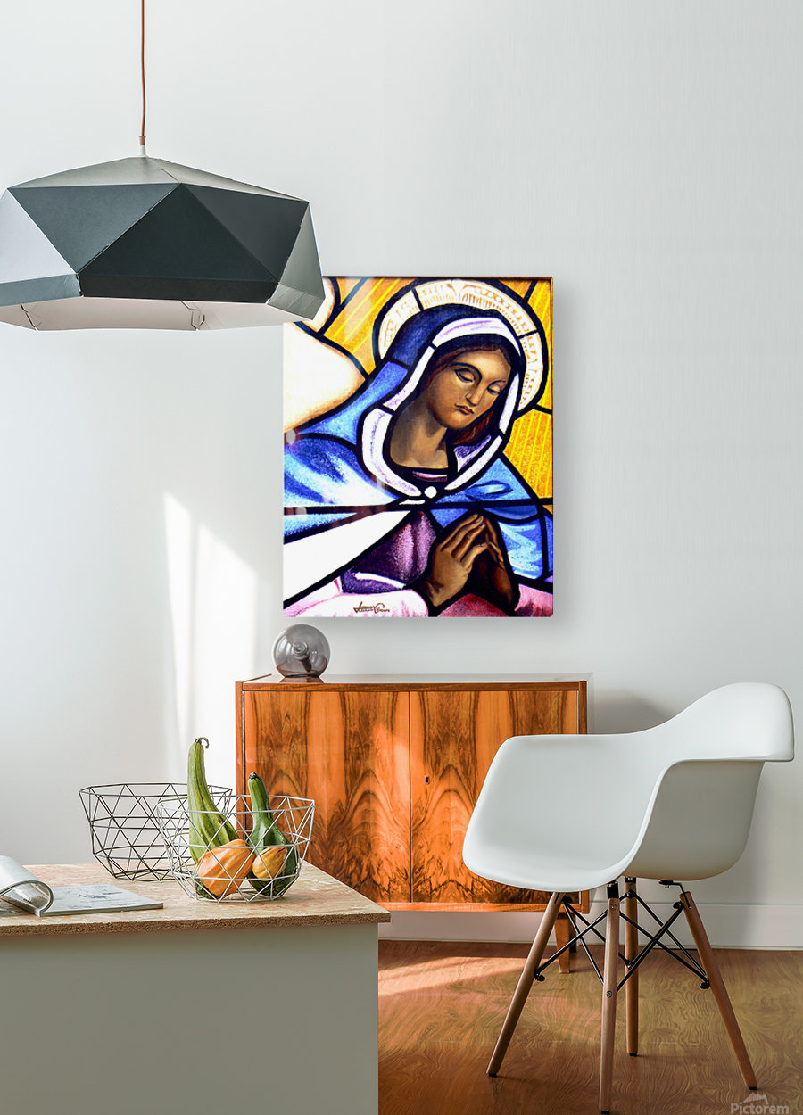 Mary in Glass  HD Metal print with Floating Frame on Back