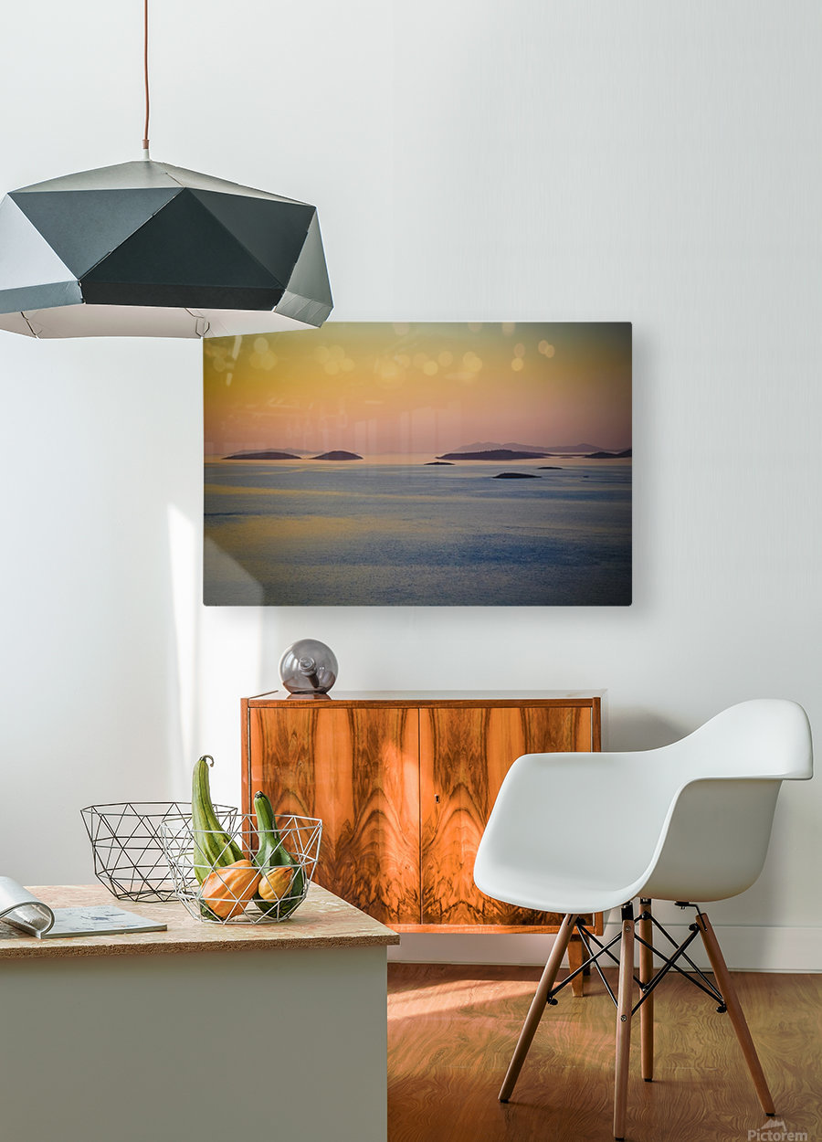 Adriatic islands  HD Metal print with Floating Frame on Back