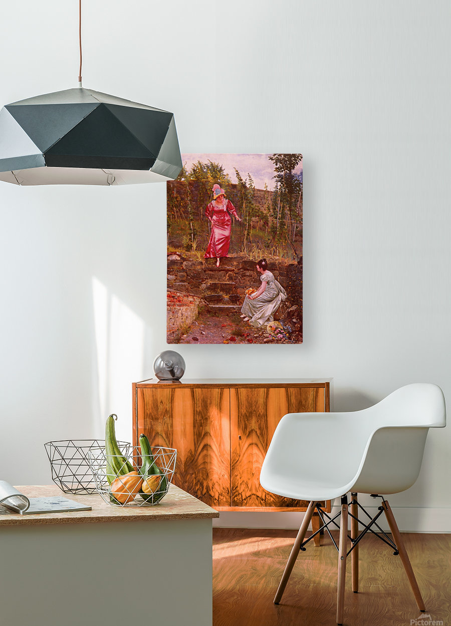 An idyllic afternoon  HD Metal print with Floating Frame on Back