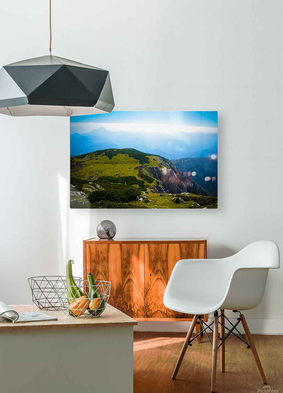 Alpine views  HD Metal print with Floating Frame on Back