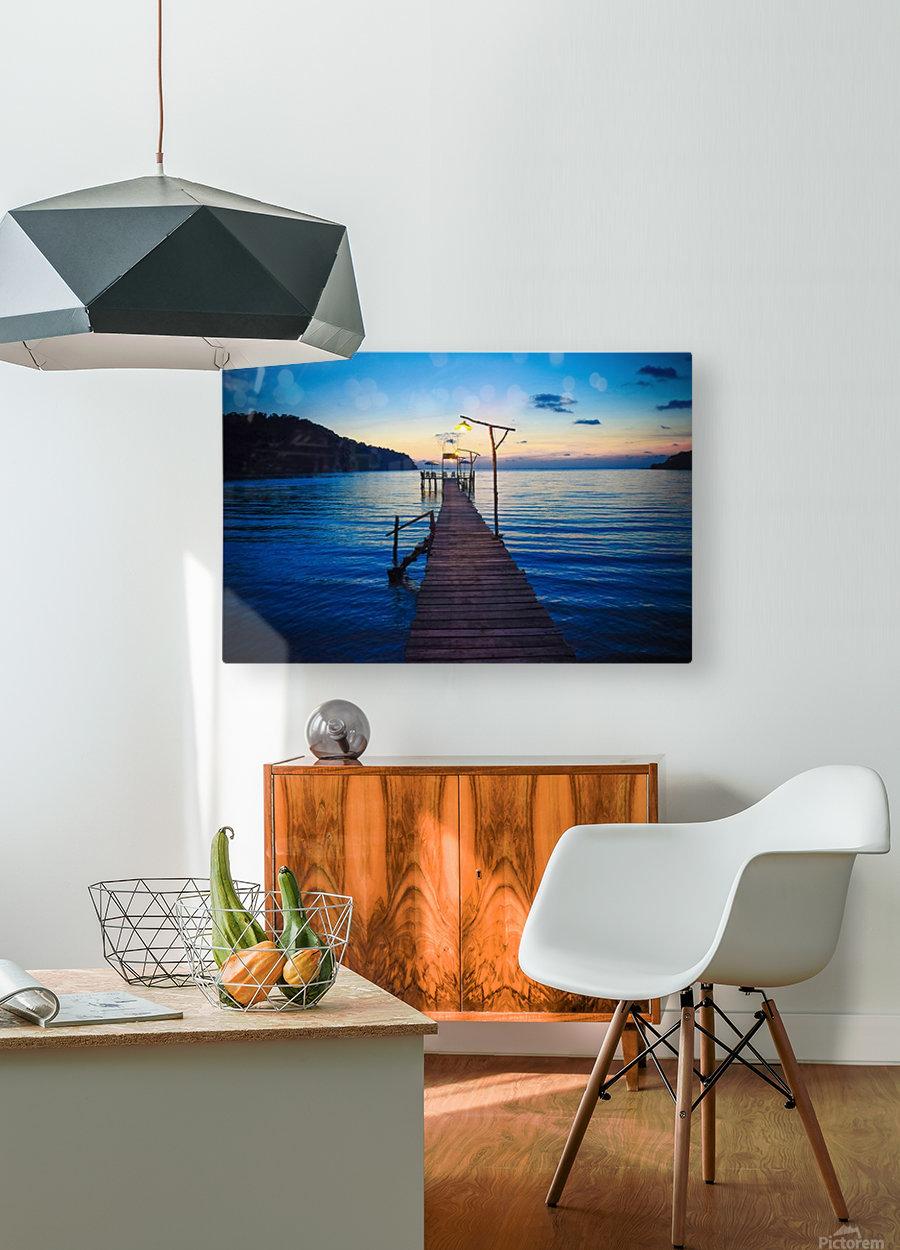 Ko Kut pier  HD Metal print with Floating Frame on Back