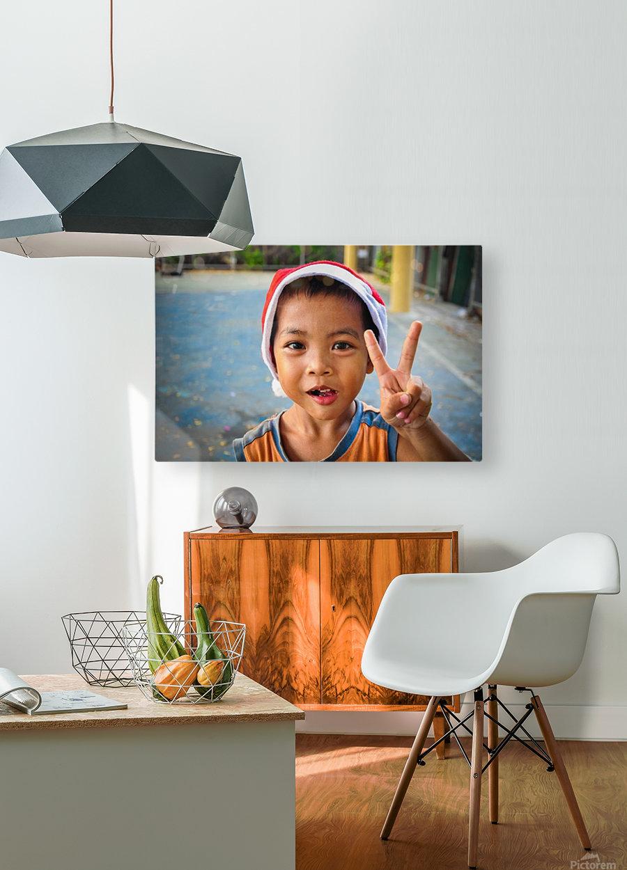 Bangkok boy  HD Metal print with Floating Frame on Back