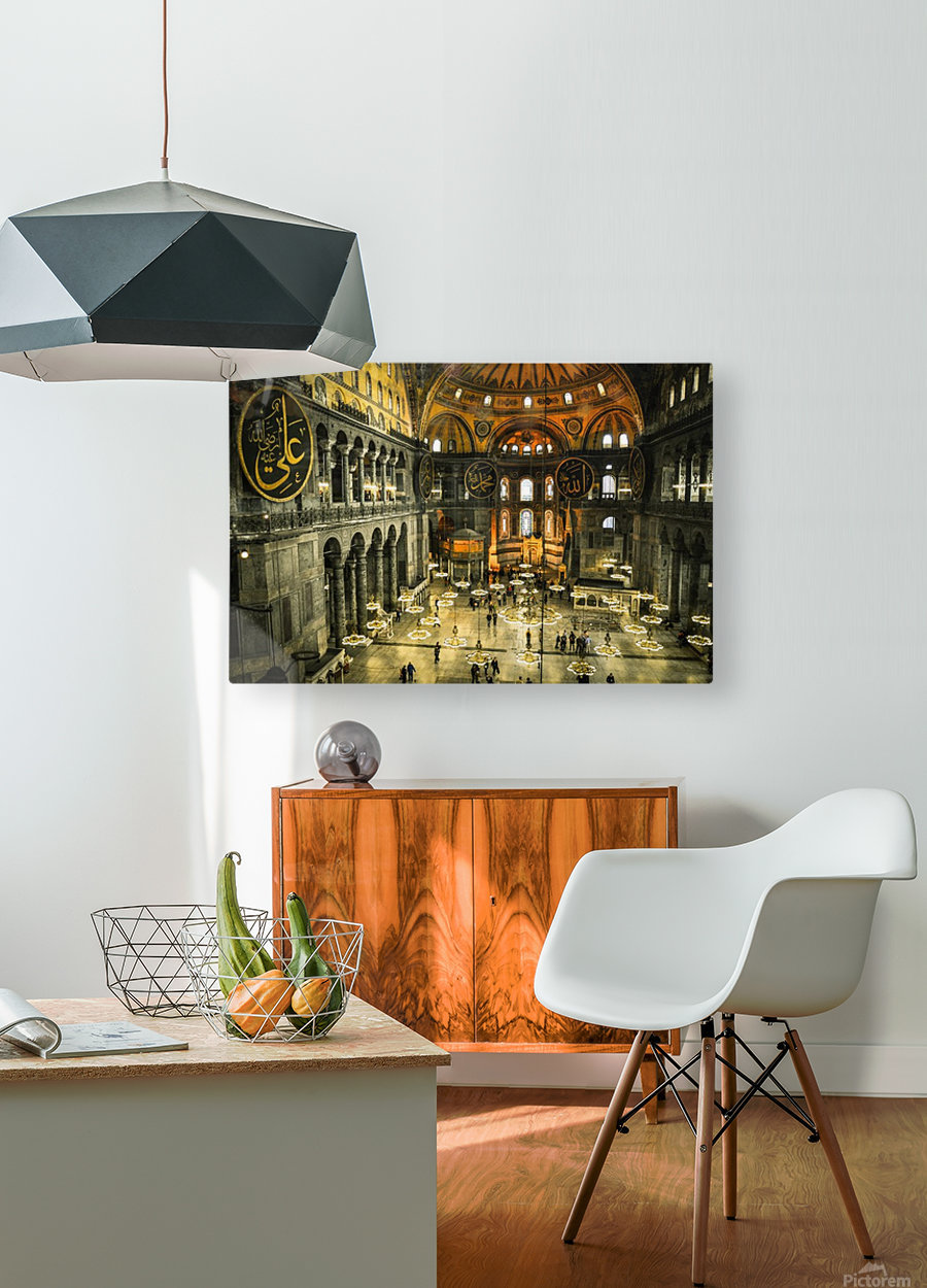 Hagia Sophia  HD Metal print with Floating Frame on Back