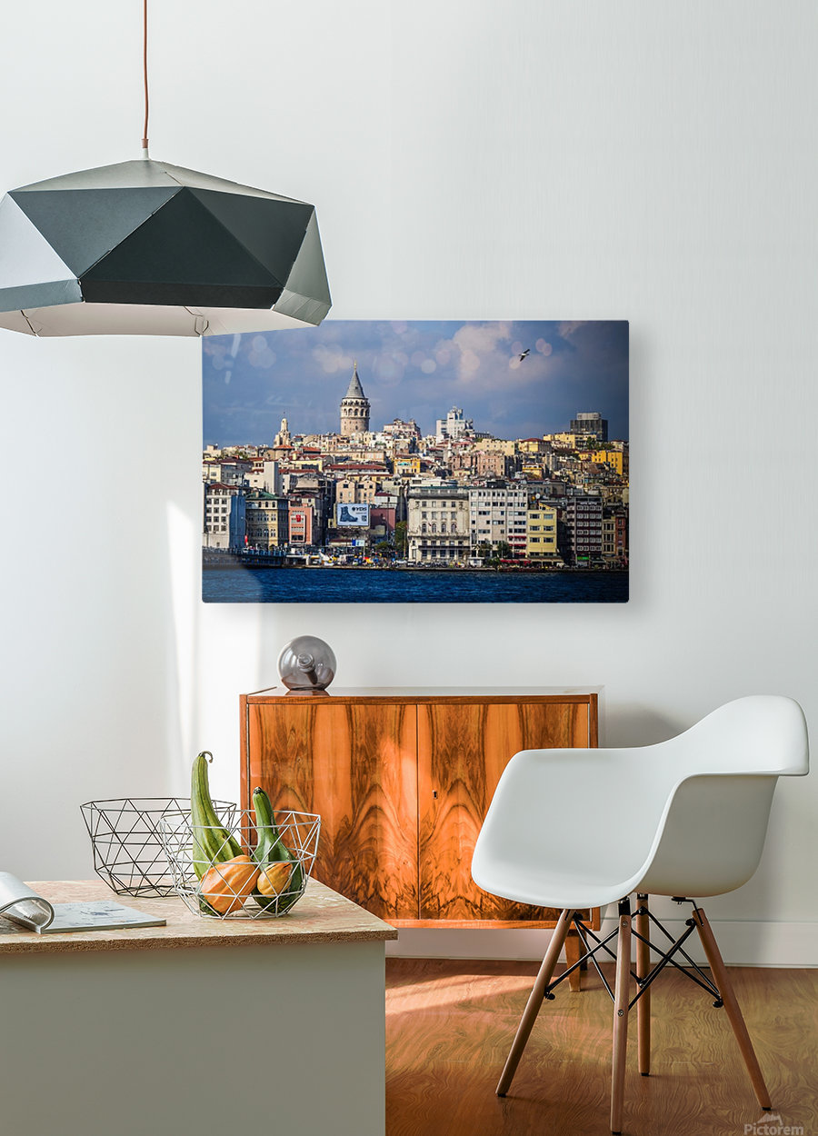 Galata, Istanbul  HD Metal print with Floating Frame on Back