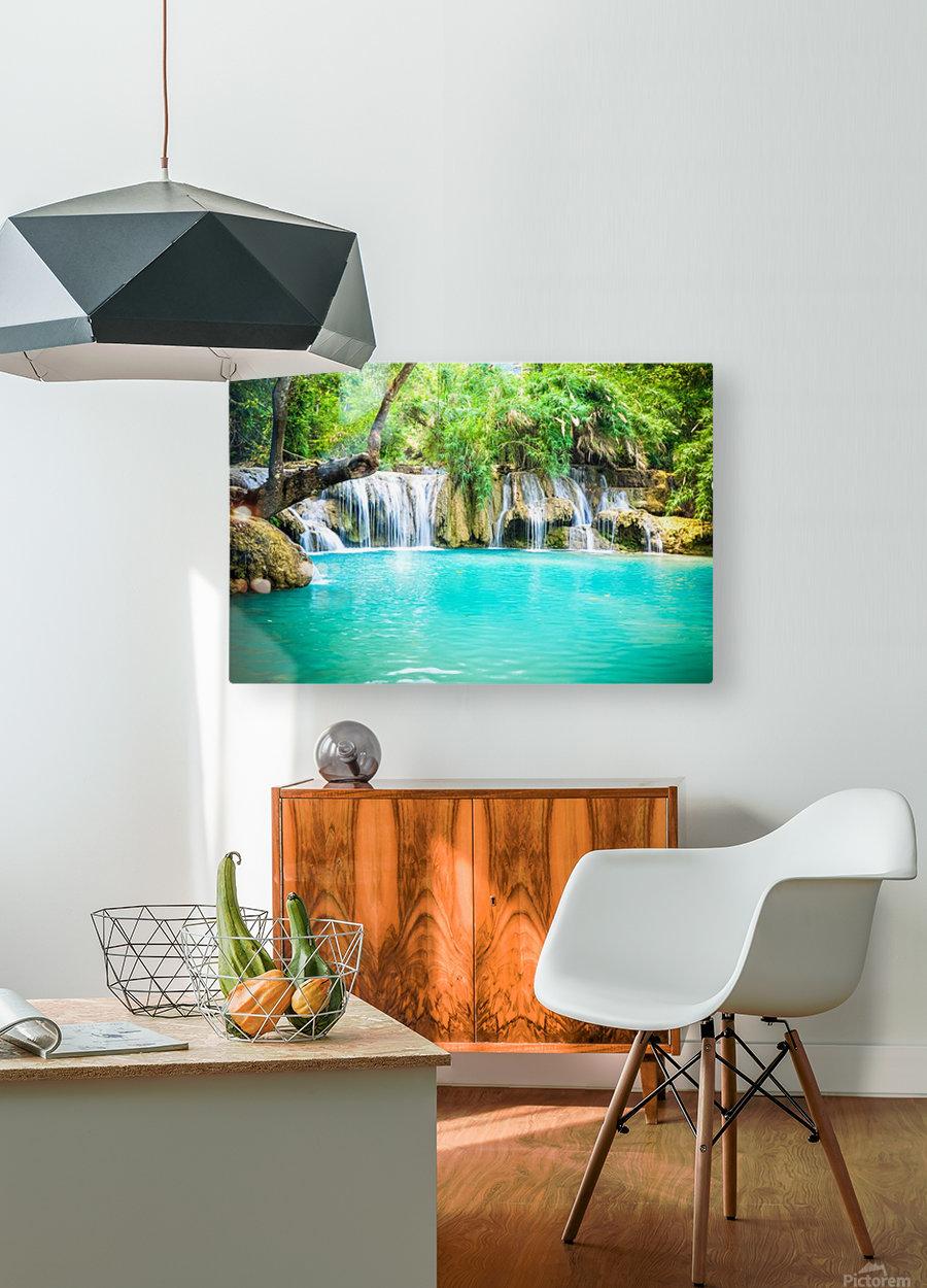 Luang Prabang waterfalls  HD Metal print with Floating Frame on Back
