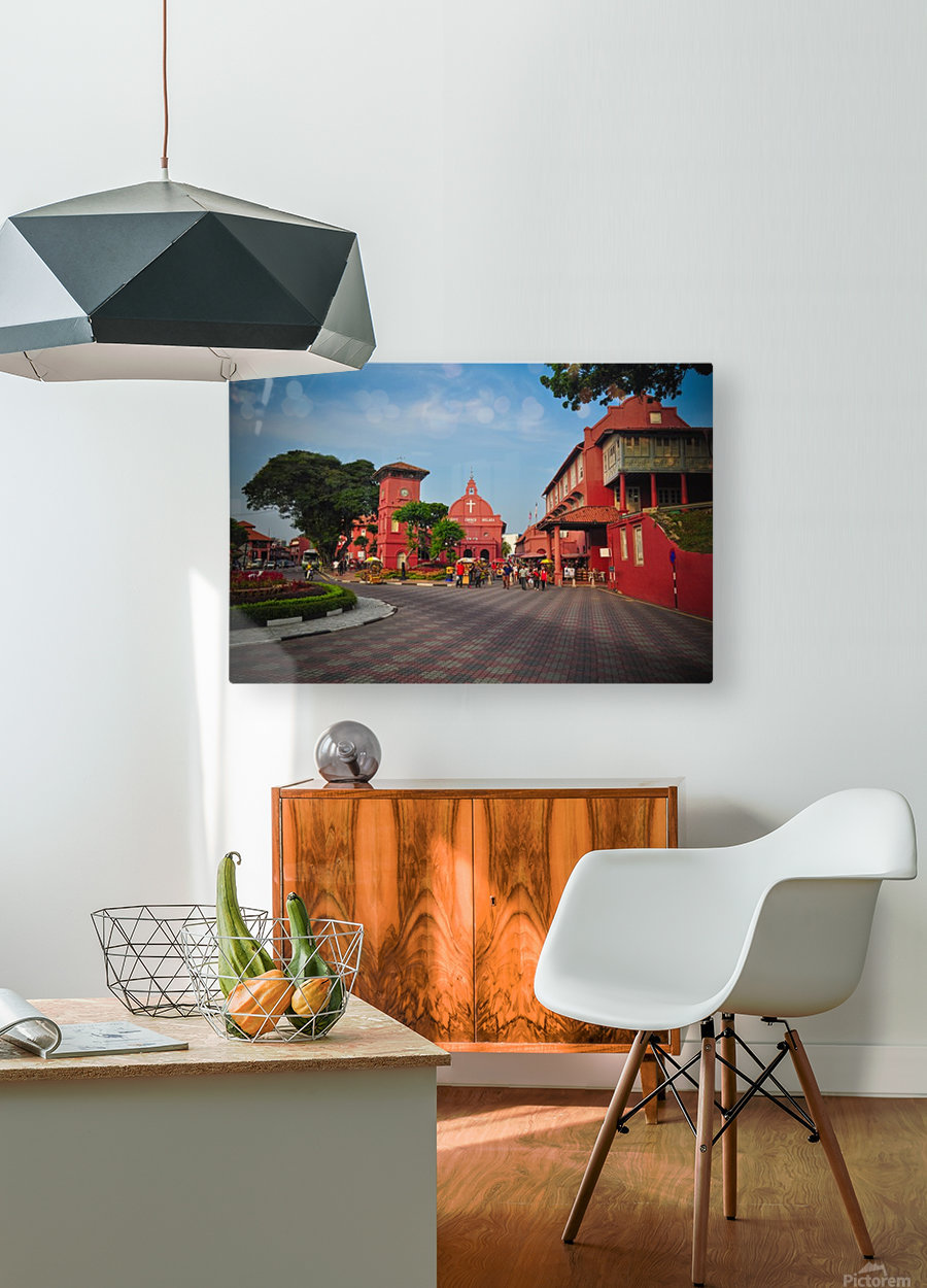 Melaka  HD Metal print with Floating Frame on Back