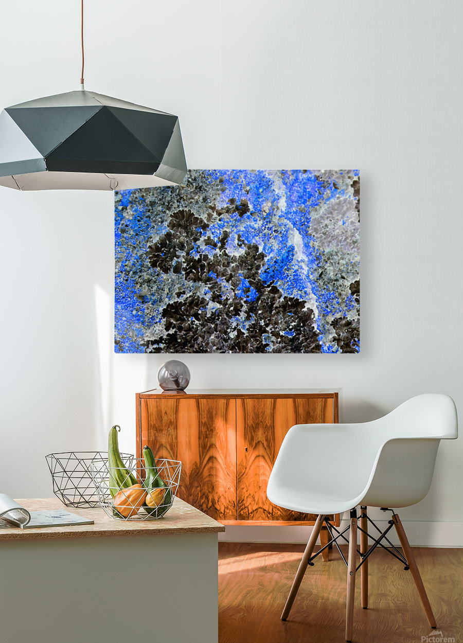 Blue Rock  HD Metal print with Floating Frame on Back