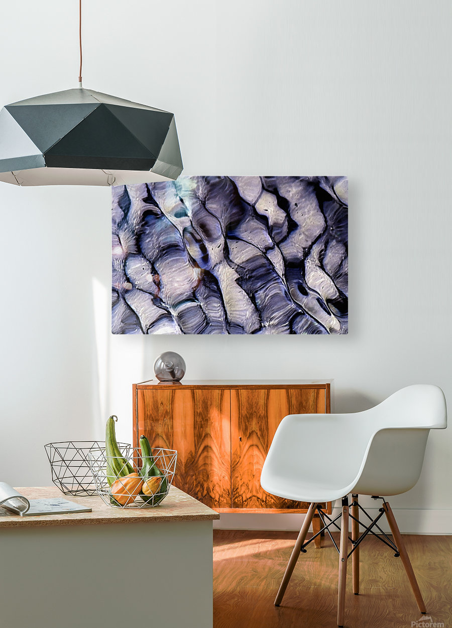 Undulations  HD Metal print with Floating Frame on Back
