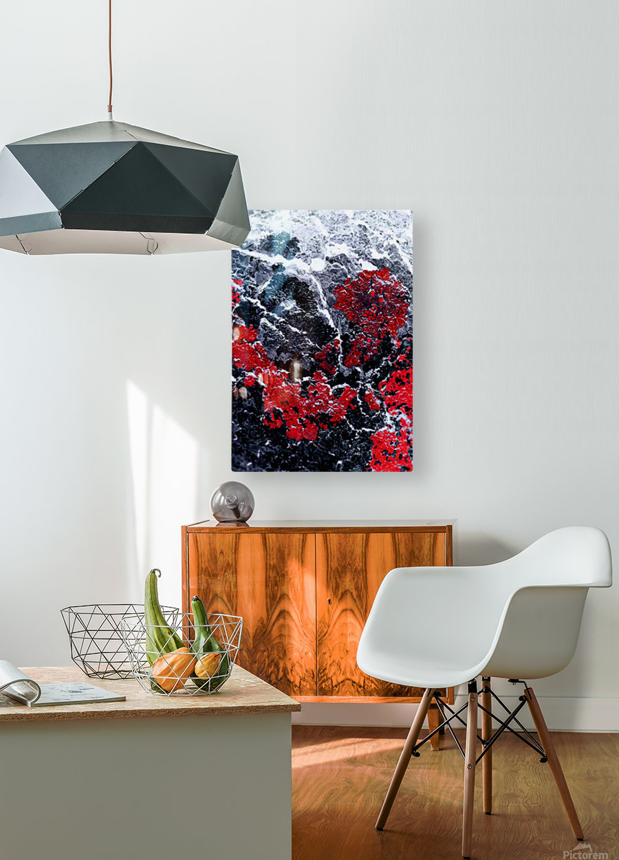 Red Cliff  HD Metal print with Floating Frame on Back