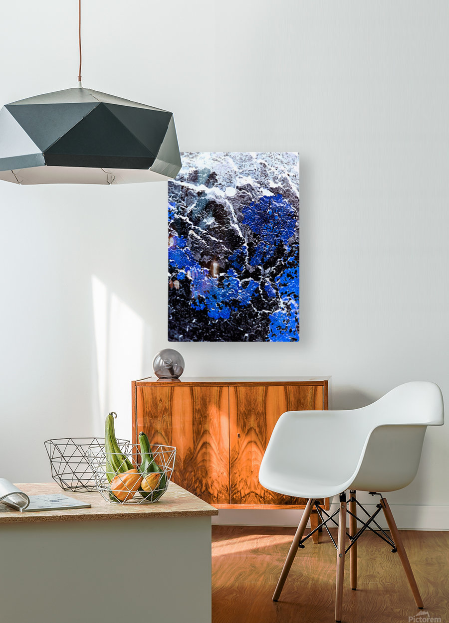 Blue Cliff  HD Metal print with Floating Frame on Back
