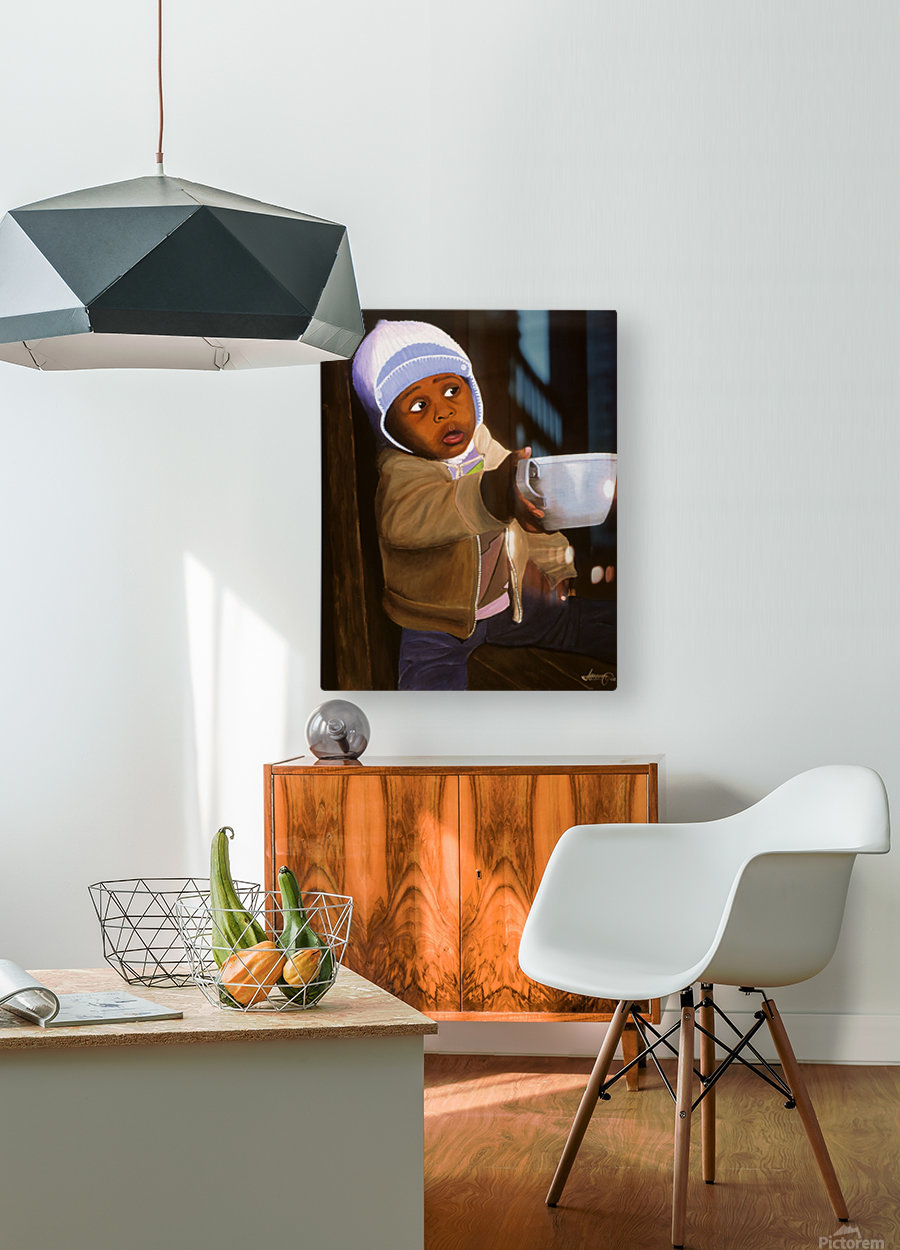 Empty Cup  HD Metal print with Floating Frame on Back