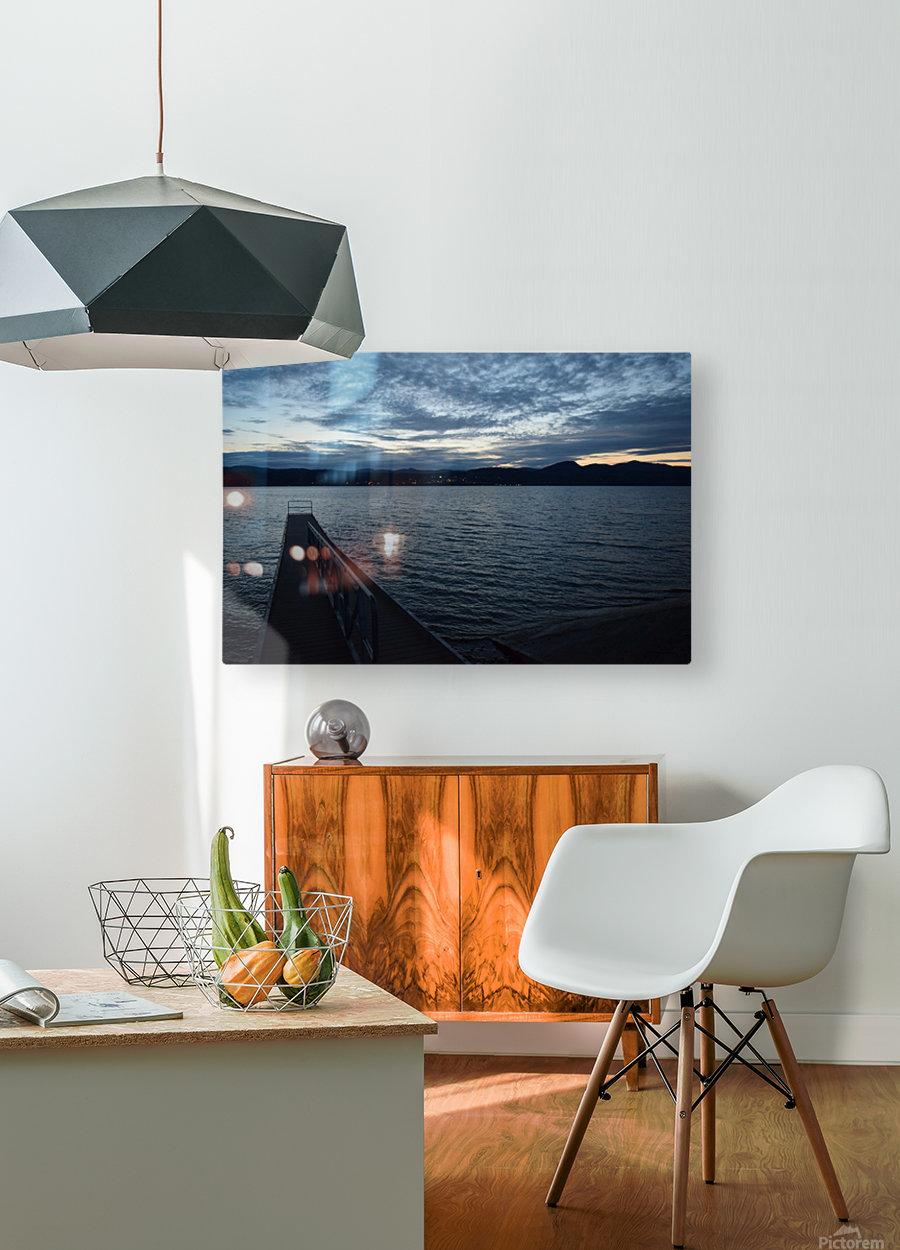 Dusky Dock on Champlain   HD Metal print with Floating Frame on Back