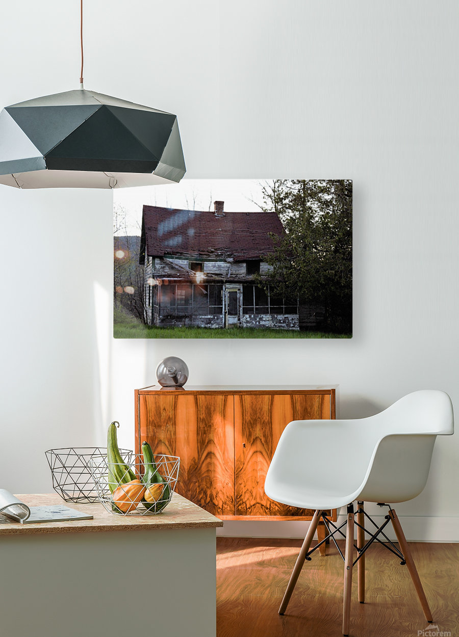 Rural Decay II  HD Metal print with Floating Frame on Back