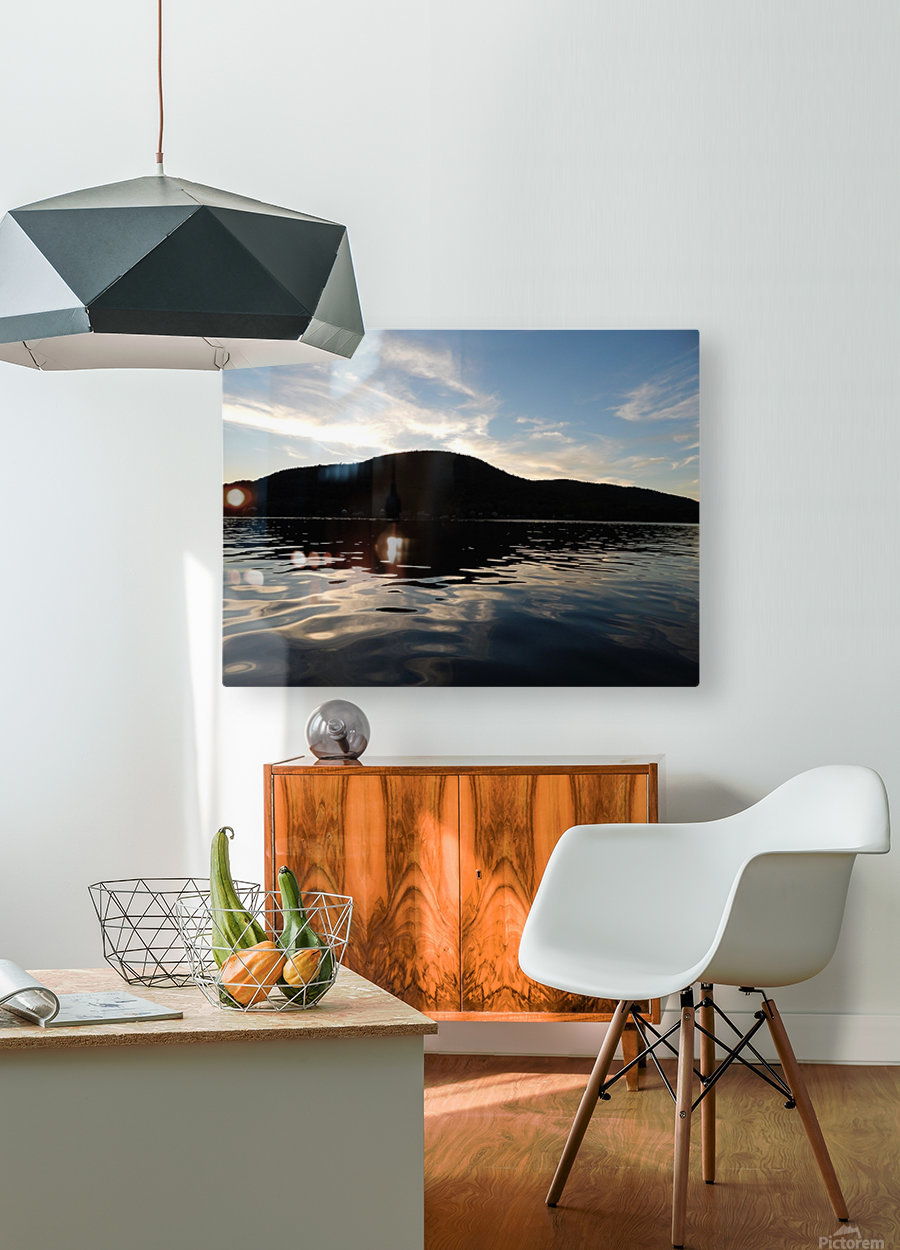 Ancient Hills, Open Water   HD Metal print with Floating Frame on Back