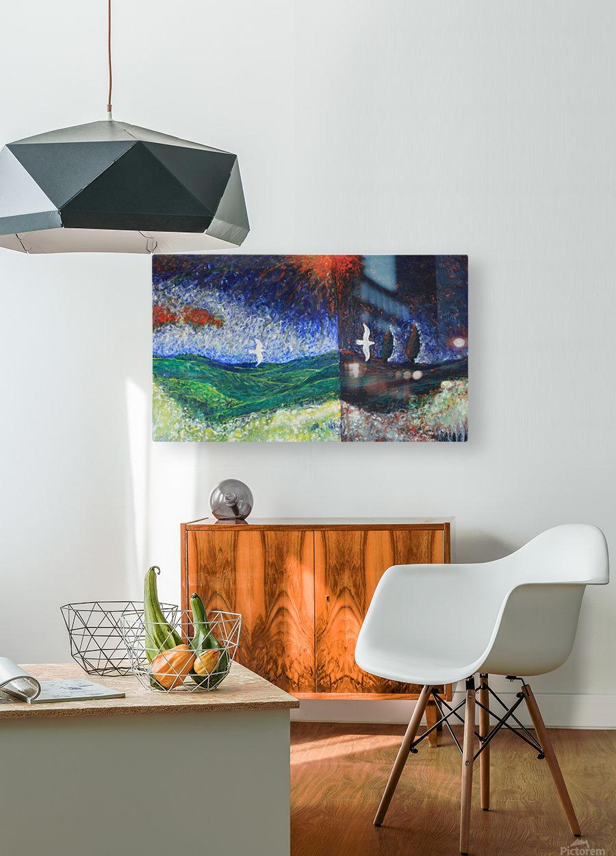 beetwen  HD Metal print with Floating Frame on Back