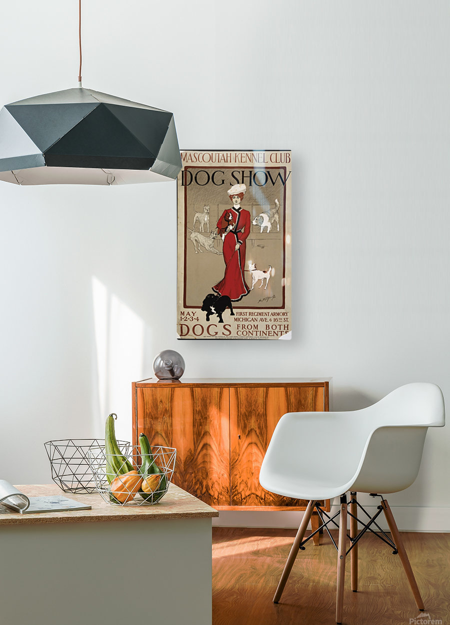 Dog Show  HD Metal print with Floating Frame on Back