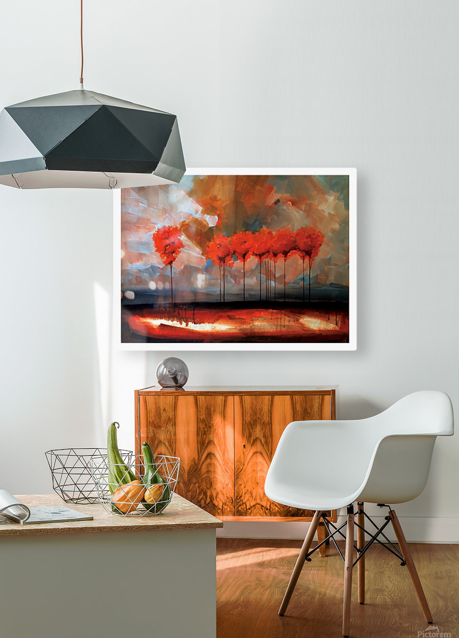 Tall Trees  HD Metal print with Floating Frame on Back