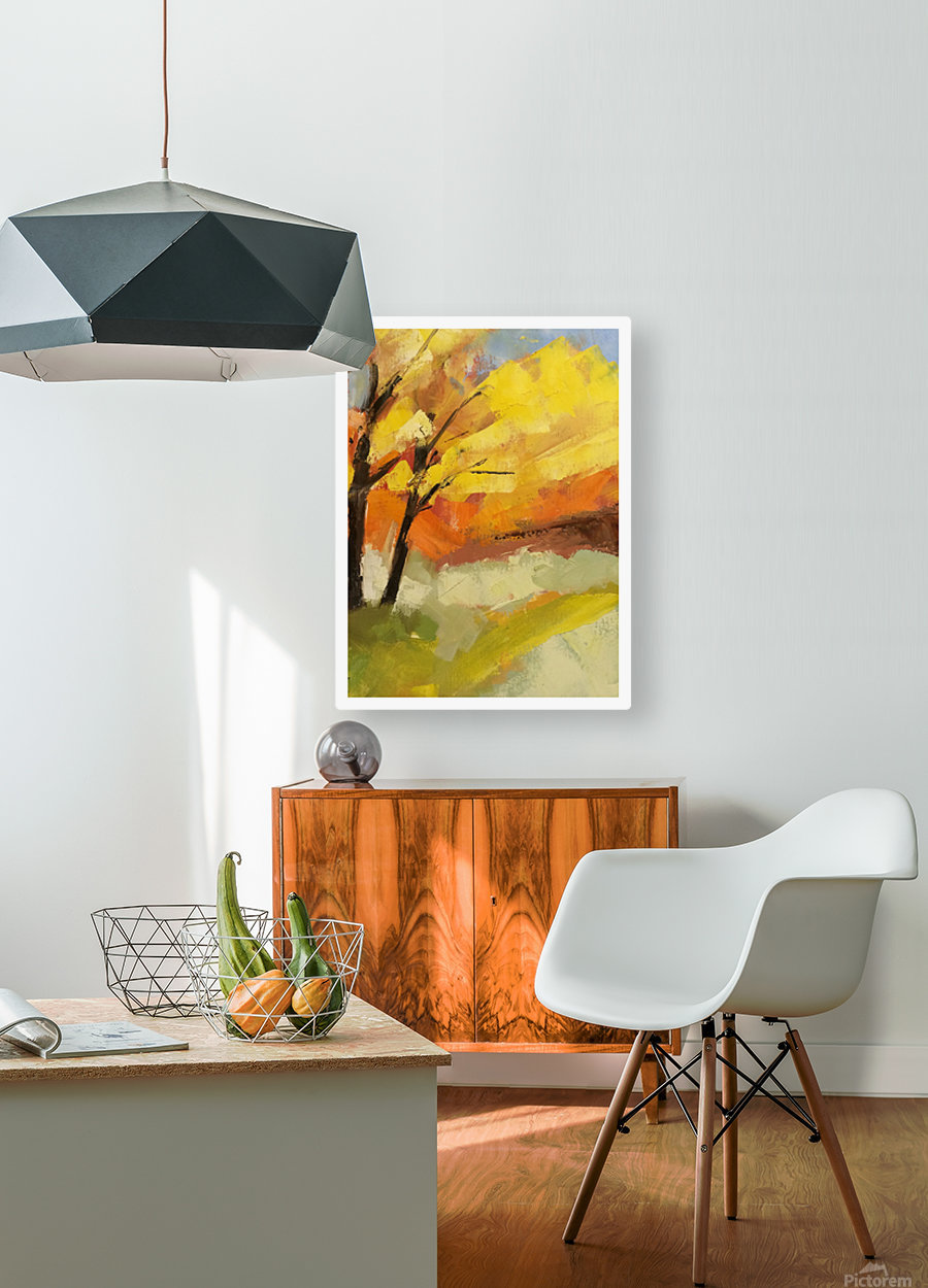 Leaves  HD Metal print with Floating Frame on Back