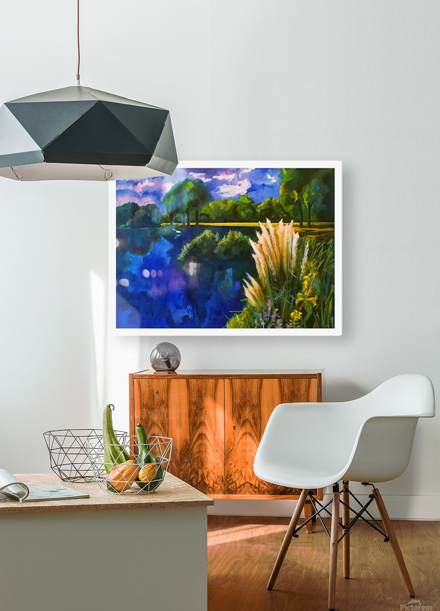 Cattails  HD Metal print with Floating Frame on Back