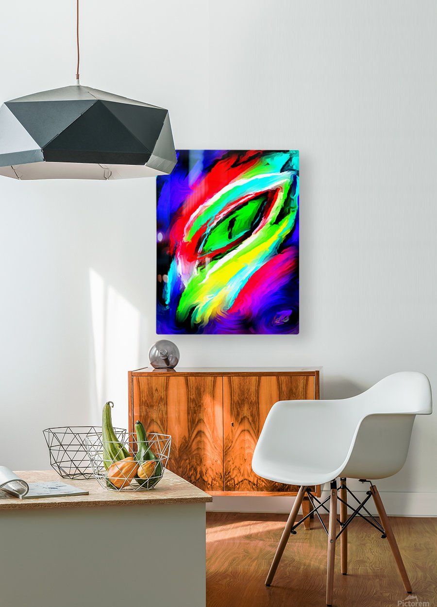 eyee  HD Metal print with Floating Frame on Back