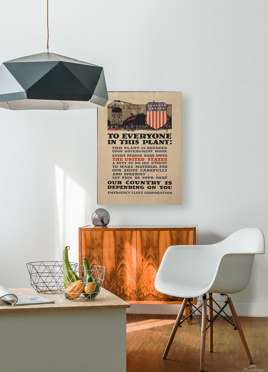 Government work  HD Metal print with Floating Frame on Back