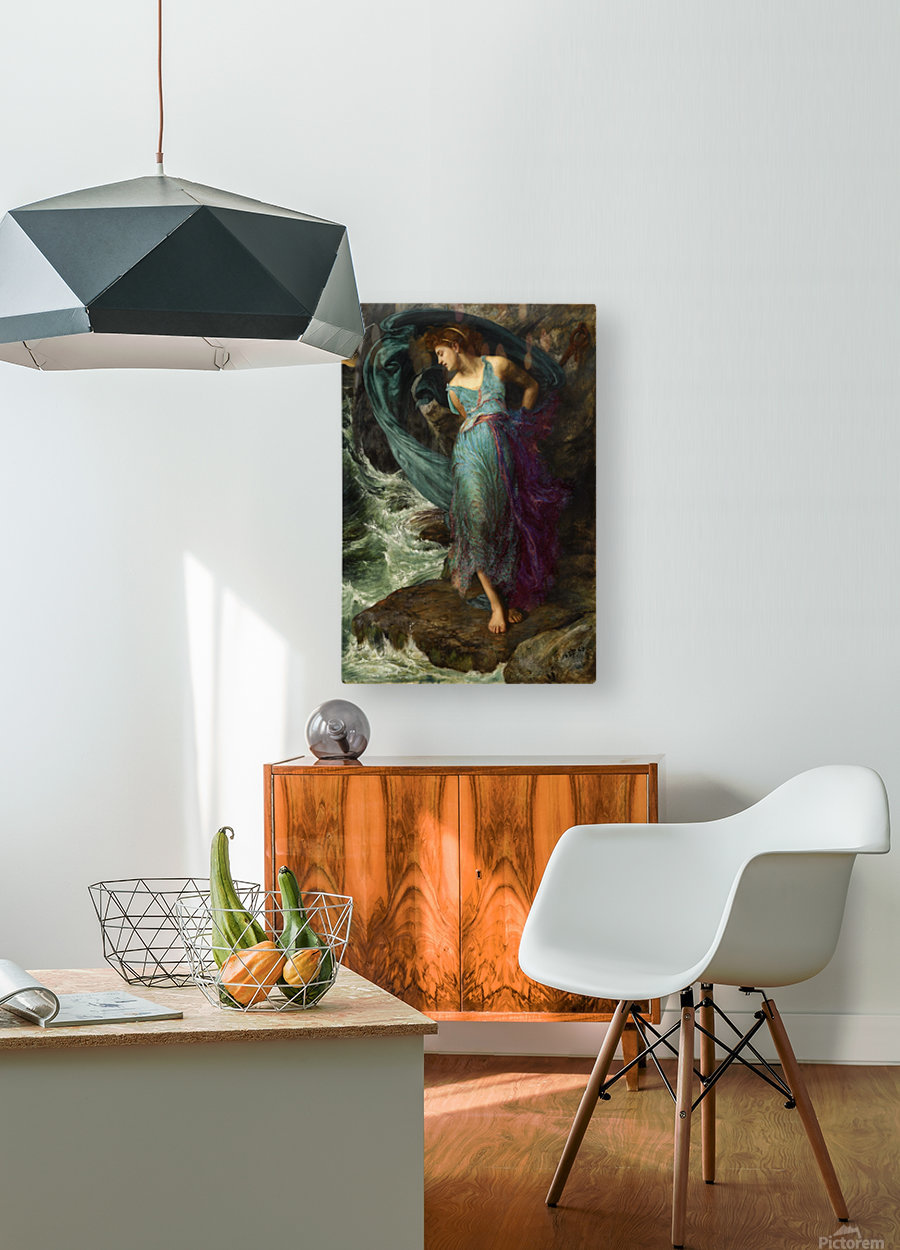 Andromeda  HD Metal print with Floating Frame on Back