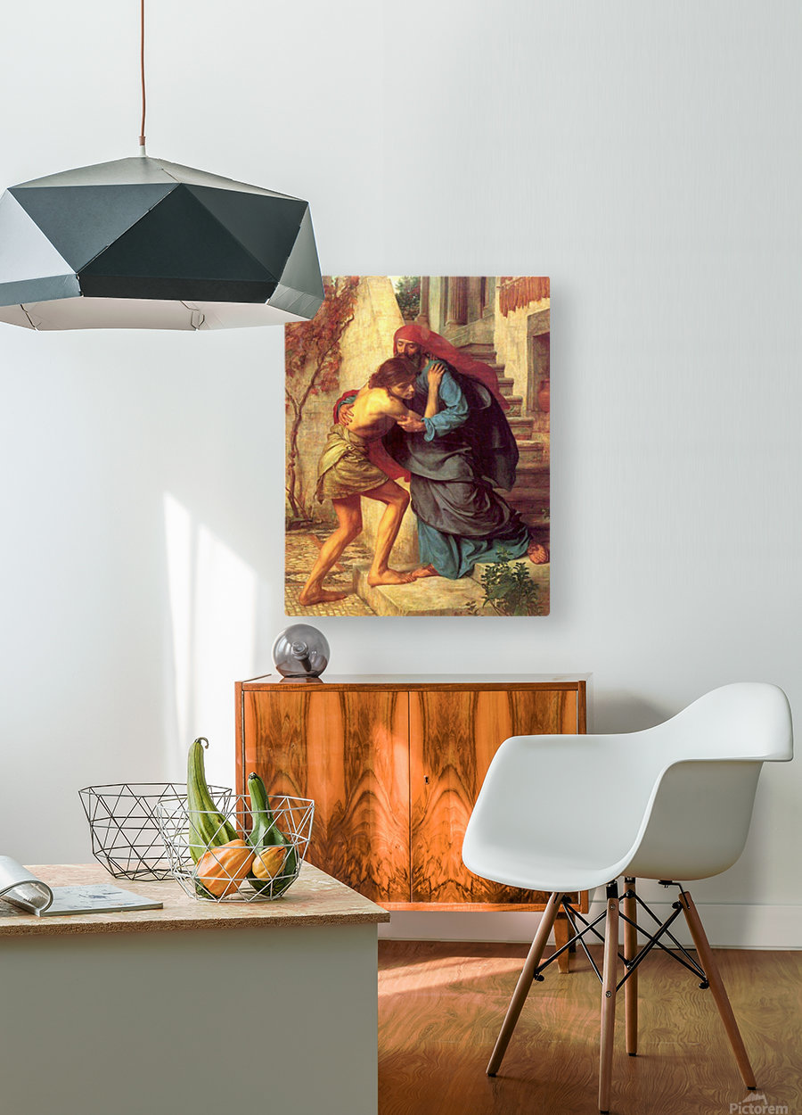 The return of the prodigal son  HD Metal print with Floating Frame on Back