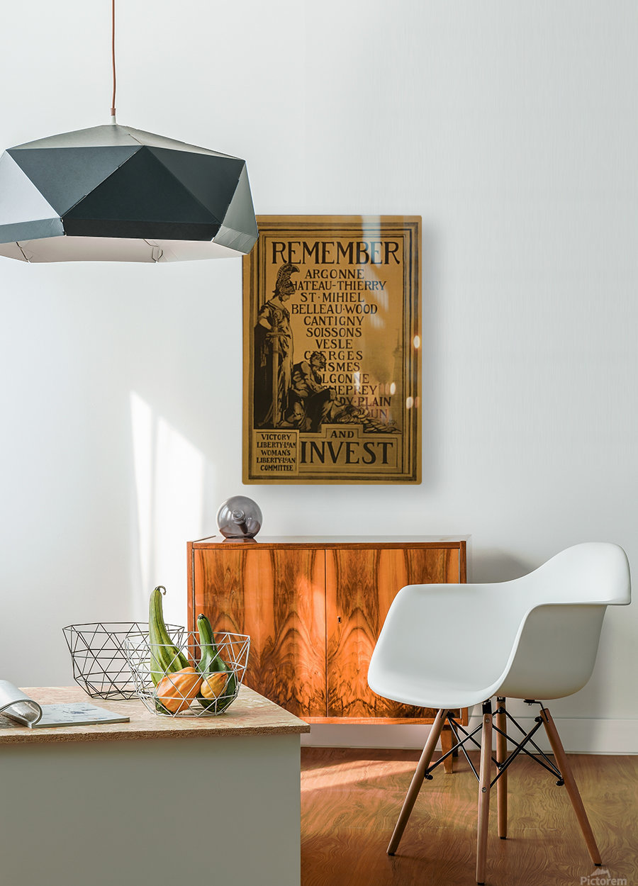 Invest  HD Metal print with Floating Frame on Back