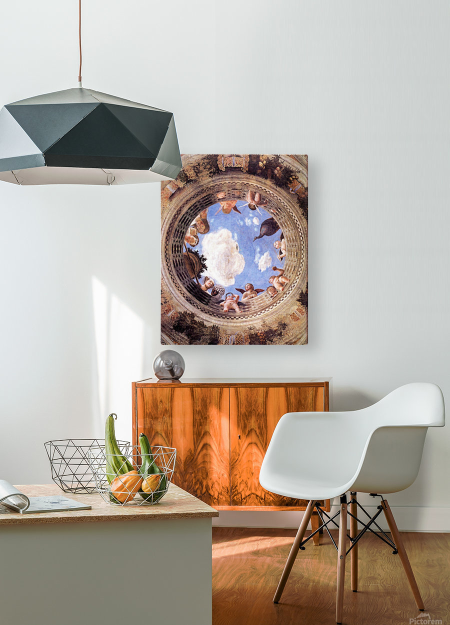 Mantegna Ceiling Oculus in the Camera degli Sposi, Mantova  HD Metal print with Floating Frame on Back