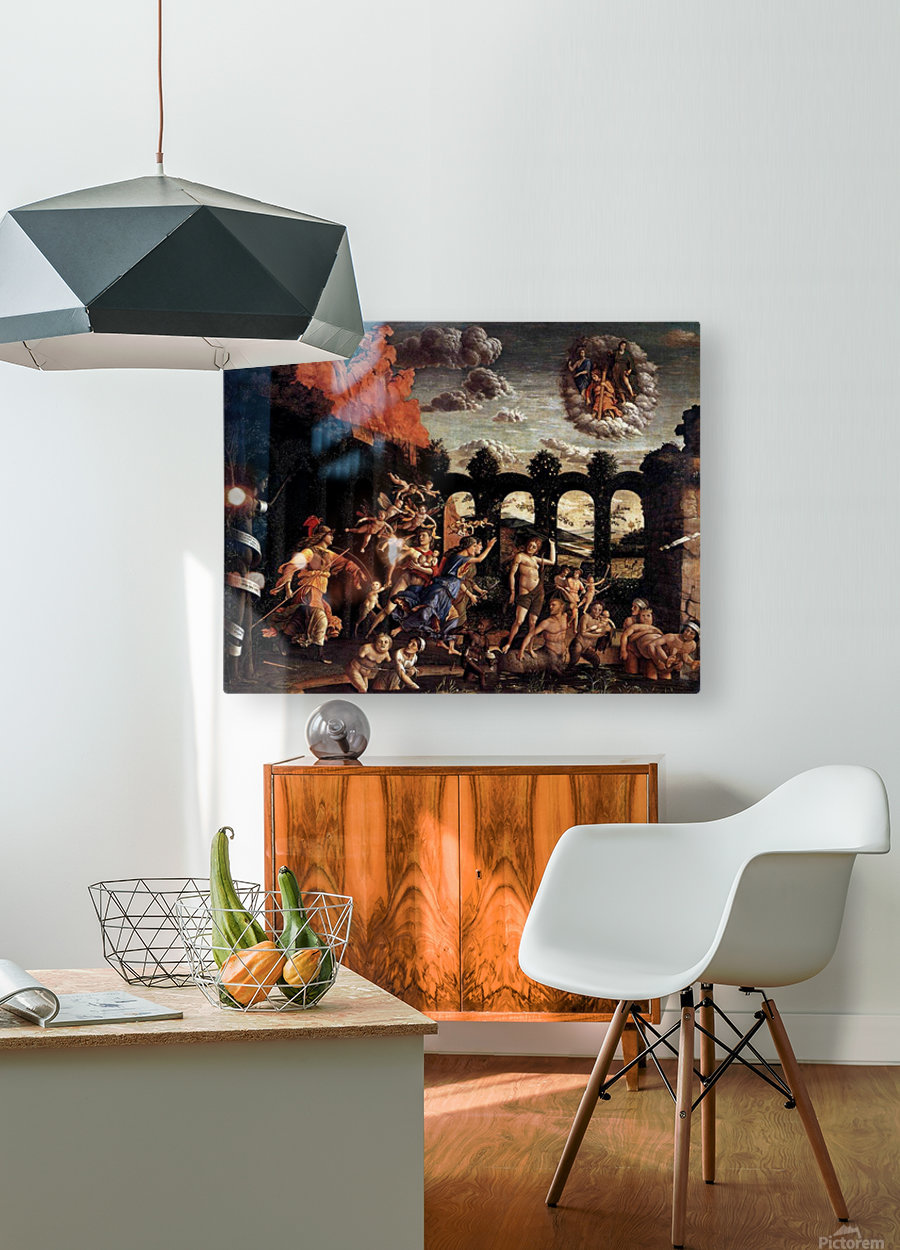Pallas Expelling the Vices from the Garden of Virtue  HD Metal print with Floating Frame on Back