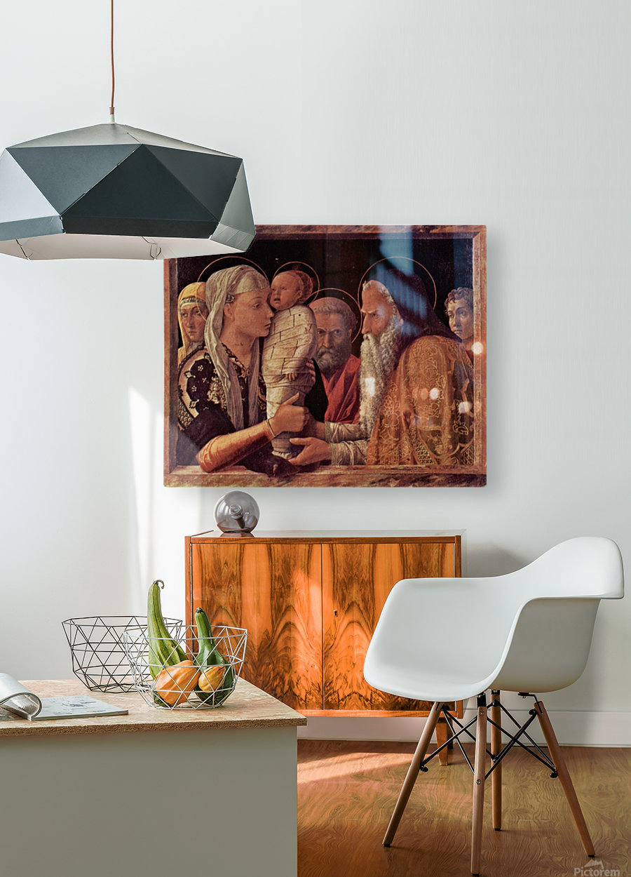 Presentation of Jesus at the Temple  HD Metal print with Floating Frame on Back