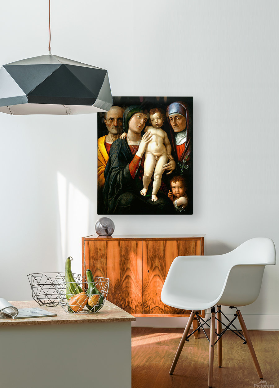 Holy Family with Saints Elizabeth and John the Baptist  HD Metal print with Floating Frame on Back